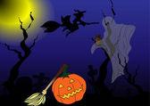 Halloween characters — Stock Vector