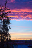 Сity sunset — Stock Photo