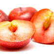 Plum fruit cut — Foto de Stock