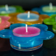 Сolored candles — Stock fotografie