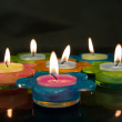 Сolored candles — Stock Photo