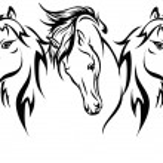 Three horses in 2014 — Stock Vector #35889607