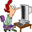 Cтоковый вектор: Clip Art of Personal Computer Workstation