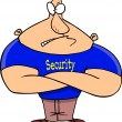 Royalty Free Clipart Image of a Bouncer — 图库矢量图片