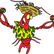 Stockvektor : Royalty Free Clipart Image of Calypso Lobster