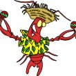Royalty Free Clipart Image of a Calypso Lobster — Vettoriali Stock