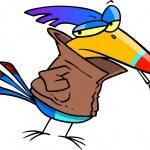 Juvenile Delinquent Bird — Stock Vector #13915311
