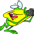 Cartoon Frog Photographer — Stock Vector