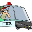 Royalty-Free Stock Vector Image: Cartoon Squad Car