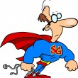 Cartoon Super Geek — Vector de stock #13917258