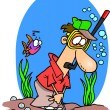Royalty-Free Stock Vector Image: Cartoon Golf Water Hazard