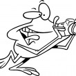 Cartoon Frog Photographer - Imagen vectorial