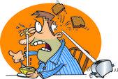 Cartoon Breakfast Disaster — Stock Vector