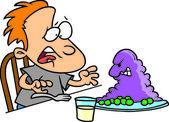 Cartoon Gross Dinner — Stock Vector
