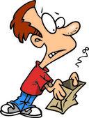 Cartoon Empty Lunch Bag — Stock Vector