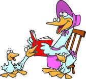 Cartoon Mother Goose — Stock Vector