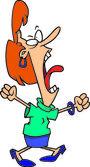 Cartoon Woman Screaming — Stock Vector