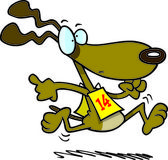 Cartoon Greyhound Race — Stock Vector