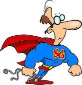 Cartoon Super Geek — Stock Vector
