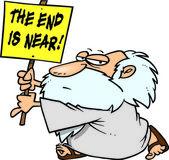 Cartoon End Times Prophet — Stock Vector