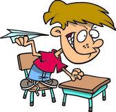 Cartoon Classroom Troublemaker — Stock Vector