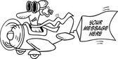 Cartoon Airplane Advertisement — Stock Vector
