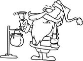Cartoon Christmas Charity — Stock Vector