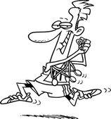 Vincitore della medaglia di cartone animato — Vettoriale Stock