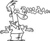Cartoon Bad Odor — Stock Vector