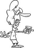 Cartoon Woman Poisoned — Stock Vector