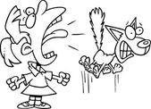 Cartoon Girl Screaming — Stock Vector