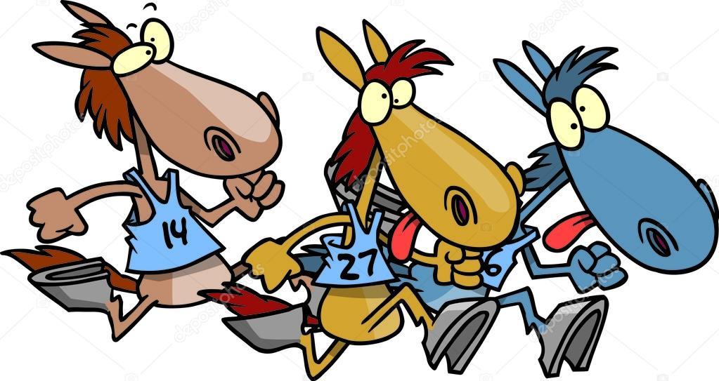 Cartoon Horse Race Stock Vector 169 Ronleishman 13916095