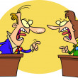 Stock Vector: Cartoon Political Debate