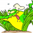 Stock Vector: Cartoon Hungry Gator