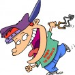 Cartoon Boy Running with Slingshot — Stock Vector #13942106