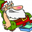 Cartoon Santa Claus Relaxing — Stock Vector