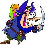 Cartoon Pirate Captain — Stock Vector #13942334