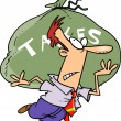 Stock Vector: Cartoon MCarrying Tax Burden