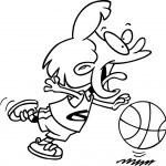 Cartoon Basketball Girl — Stock Vector