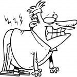Cartoon Back Pain — Stock Vector #13948997
