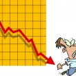 Royalty-Free Stock Vector Image: Cartoon Falling Profit Chart