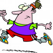 Cartoon Man Jogging — Imagen vectorial