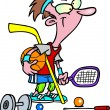 Cartoon Sports Addict — Imagen vectorial
