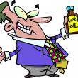Stock Vector: Cartoon Snake Oil Salesman