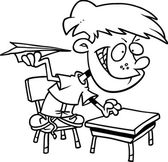 Cartoon klassenzimmer unruhestifter — Stockvektor