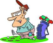 Cartoon Golf Divots — Stock Vector