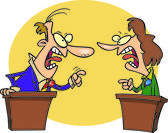 Cartoon Political Debate — Stock Vector
