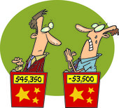 Cartoon Game Show Contestants — Stock Vector