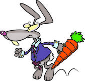 Cartoon Rabbit Business — Stock Vector