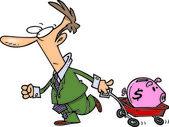 Cartoon salvadanaio risparmi — Vettoriale Stock